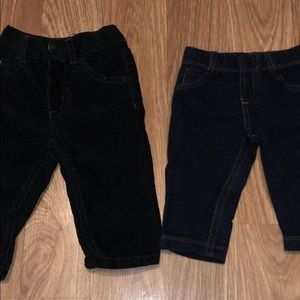 2 Pairs of pants. 6 months